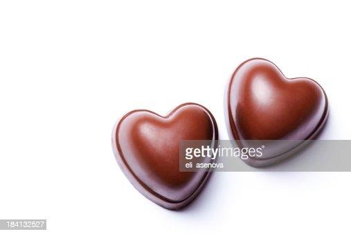 Two hearts chocolate