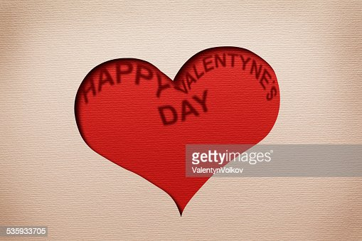 Two hearts cutout in paper. : Stock Photo