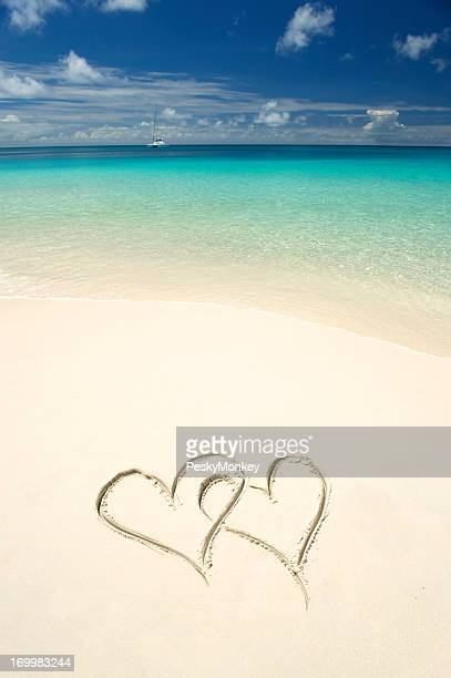 Two Hearts Tropical Waters White Sand Beach