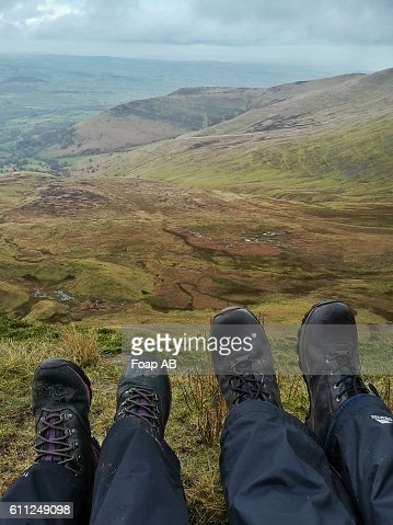 Two hikers in Brecon Beacons, Wales