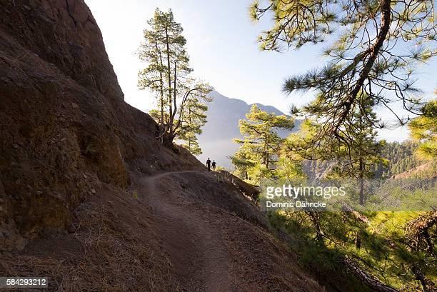 Two hikers in 'Caldera de Taburiente' National Park