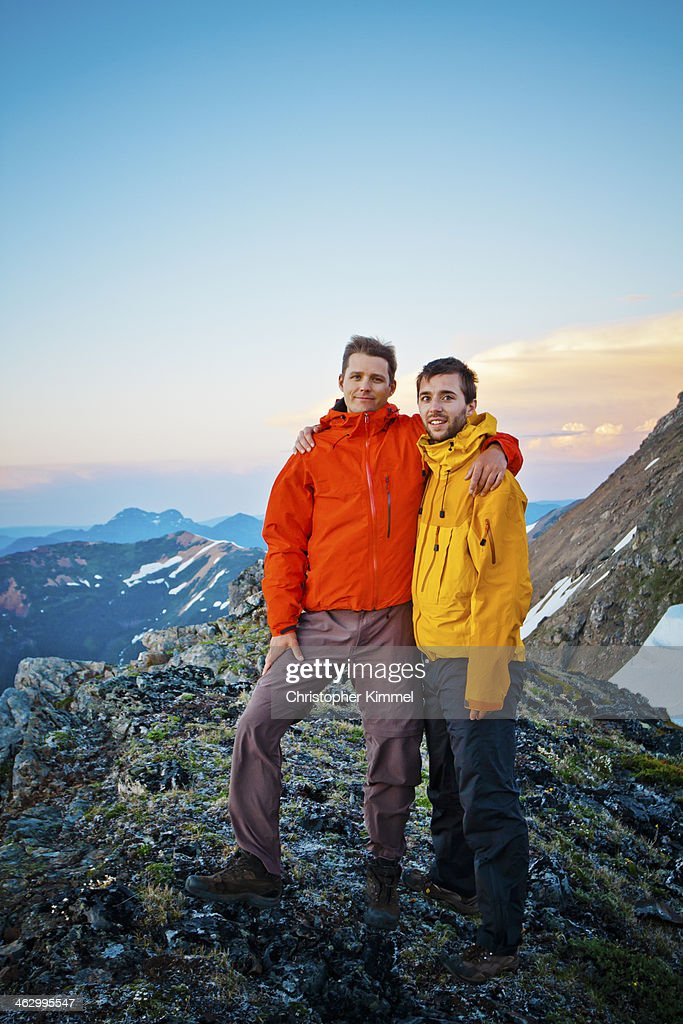 Two hikers in the mountains