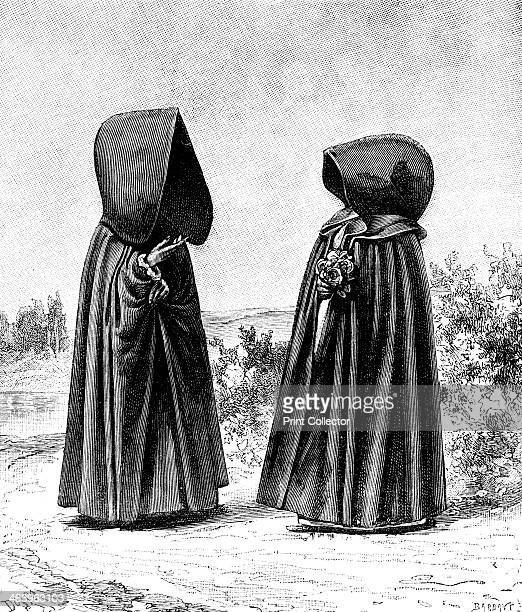 Two hooded women from Faial Portugal and San Miguel Spain c1900s From The Universal Geography with Illustrations and Maps division XXII written by...
