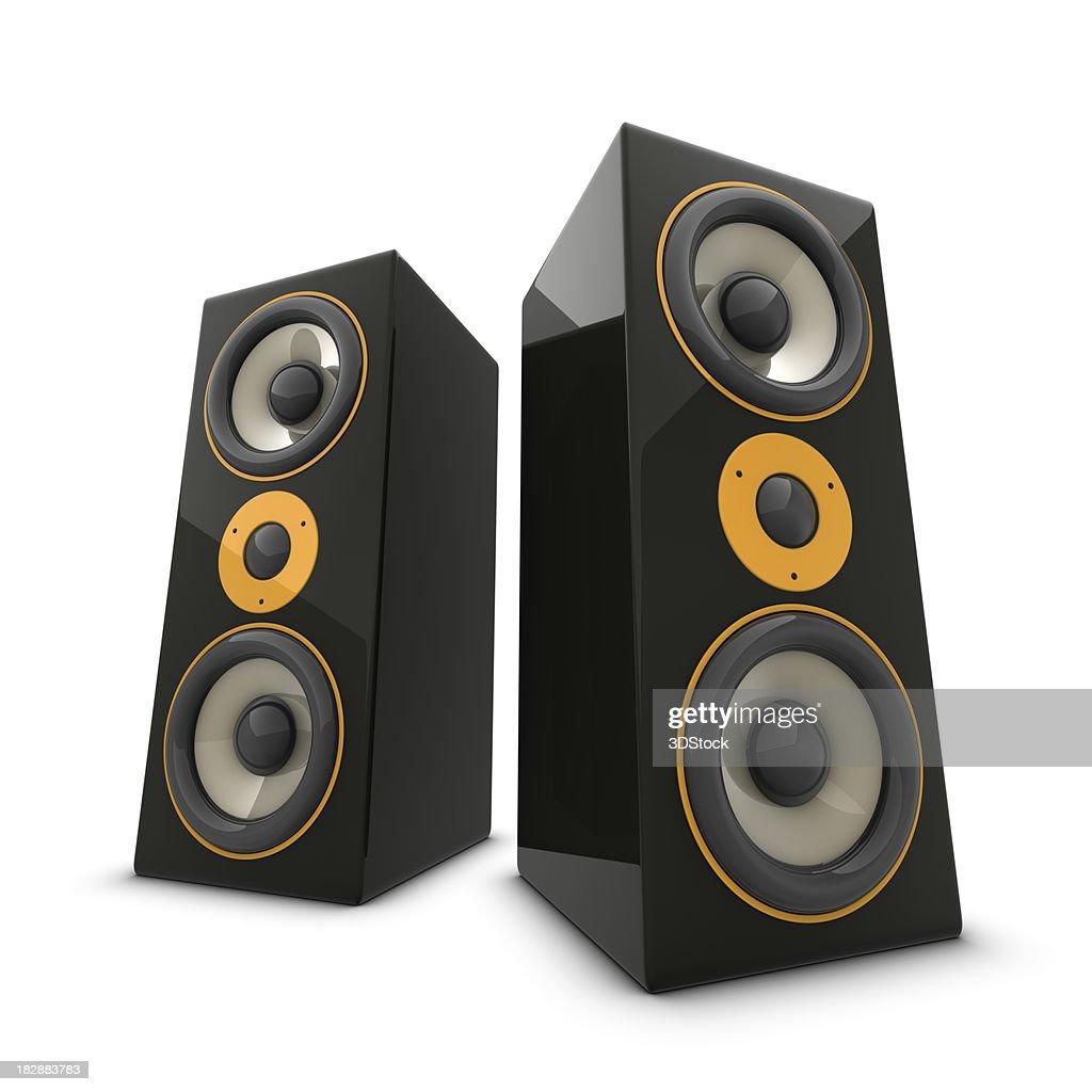 Two huge speakers