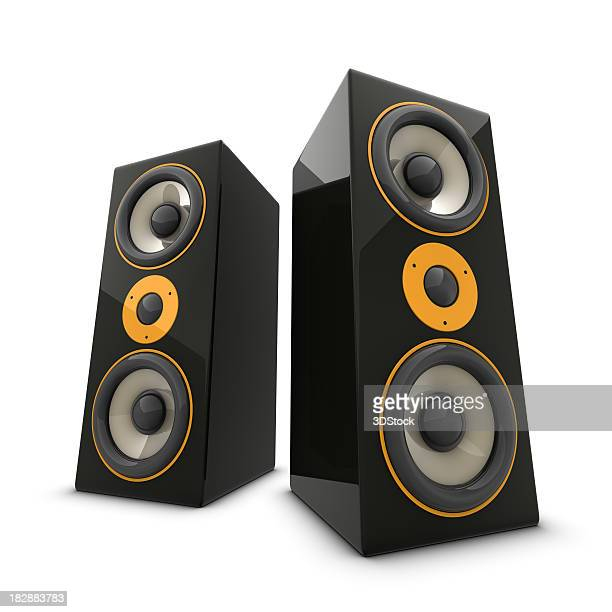 Two huge speakers