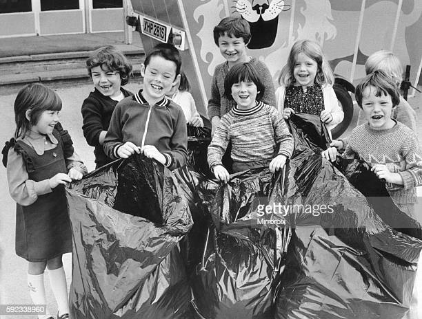 Two hundred children gathered the litter on their way to Henry Parkes Infant School Prior Deram Walk Canley Coventry yesterday The head Mrs Margaret...
