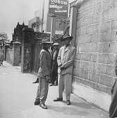 Two immigrants from Jamaica in Clapham south London where they are staying in an exair raid shelter while they try to find work