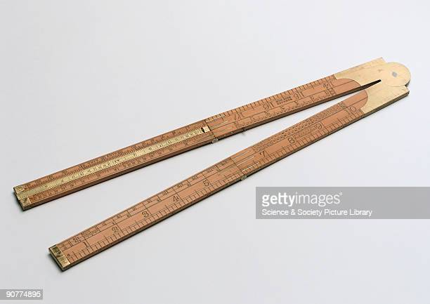 Two inch logarithmic slide rule made by John Rabone of Birmingham