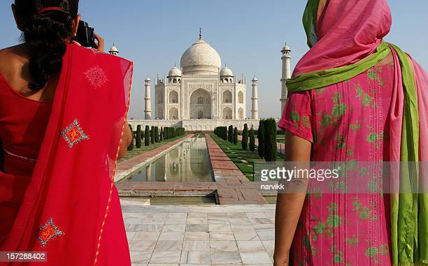 Two Indian Women in Taj Mahal