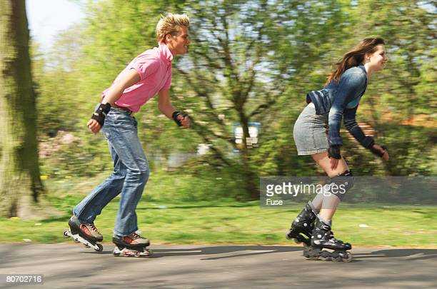 Two inline skaters
