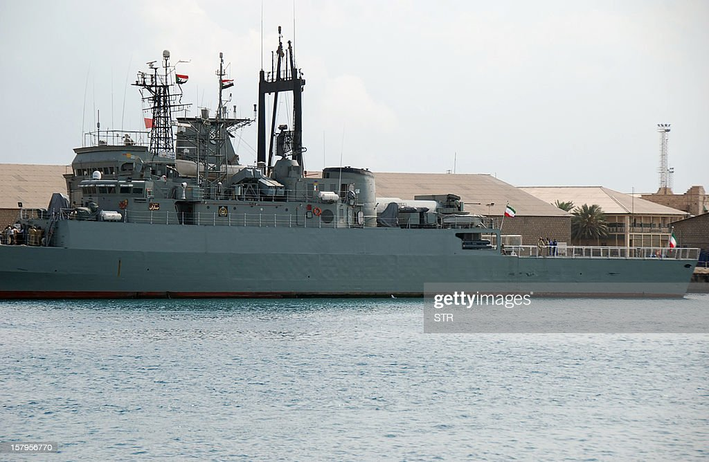 Two Iranian warships dock in the Sudanese Red Sea city of Port Sudan on December 8, 2012. The Iranian navy said the 1,400 ton frigate Jamaran and the 4,700 ton support ship Bushehr 'docked in Port Sudan, after successfully carrying out their assignments in the Red Sea and were greeted by high-ranking Sudanese naval commanders.' Khartoum said it was a 'normal' port call but Israeli officials have expressed concern about arms smuggling through Sudan.