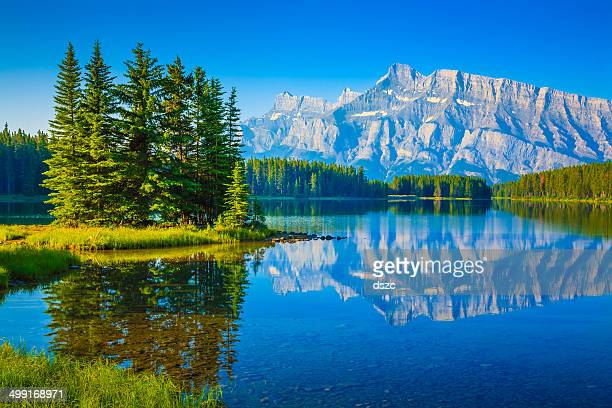 Two Jack Lake, Mount Rundle, Banff National Park Canada
