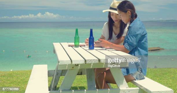Two Japanese female talking.