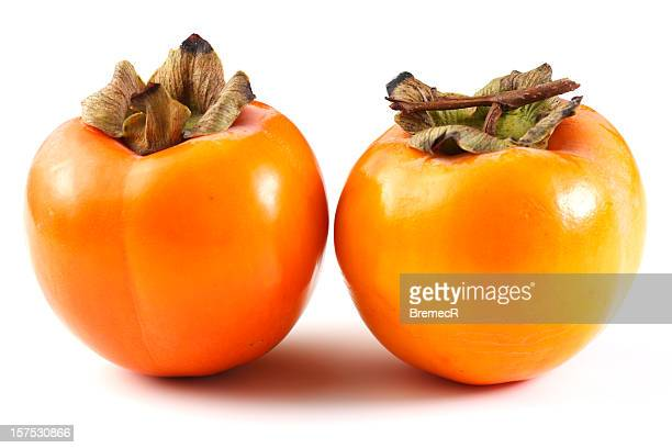 Two kaki fruits