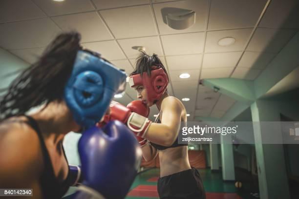 Two kickboxers women