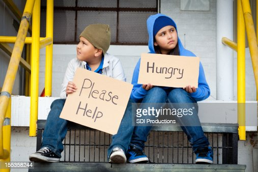 two kids asking for help