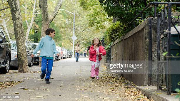 Two kids off to School