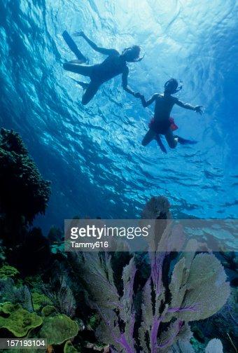 Two Kid's Snorkeling