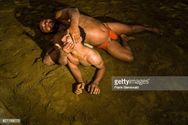 Two Kushti Wrestlers are fighting at Malik Ghat near the Hoogly River