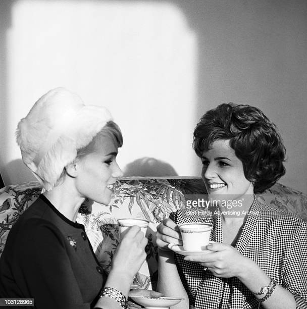Two ladies chat over coffee 25th July 1961