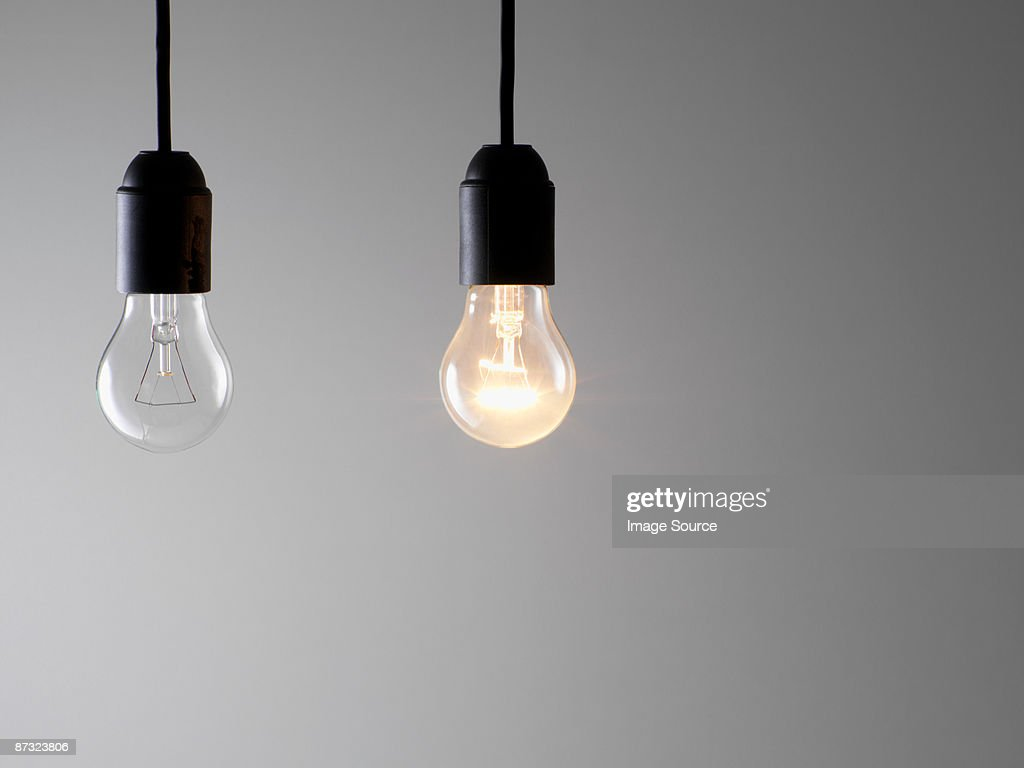 Two lightbulbs : Stock Photo