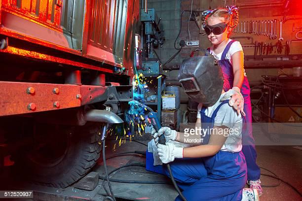 Two little welders