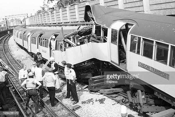 Two London Underground trains collide near Leyton station One driver died and 25 people were injured on August 20 1984