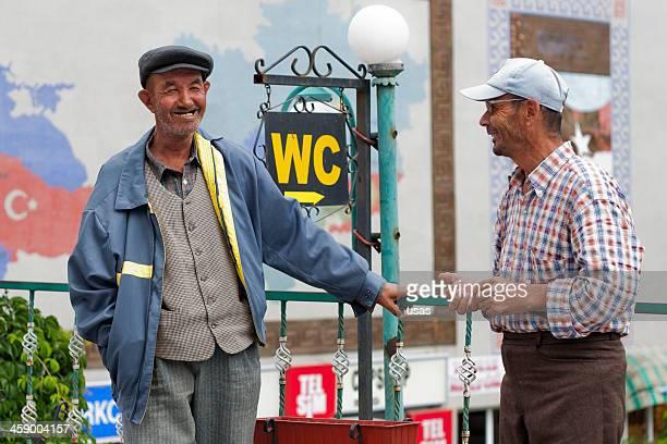 Two man talking at Beypazari, Ankara City.