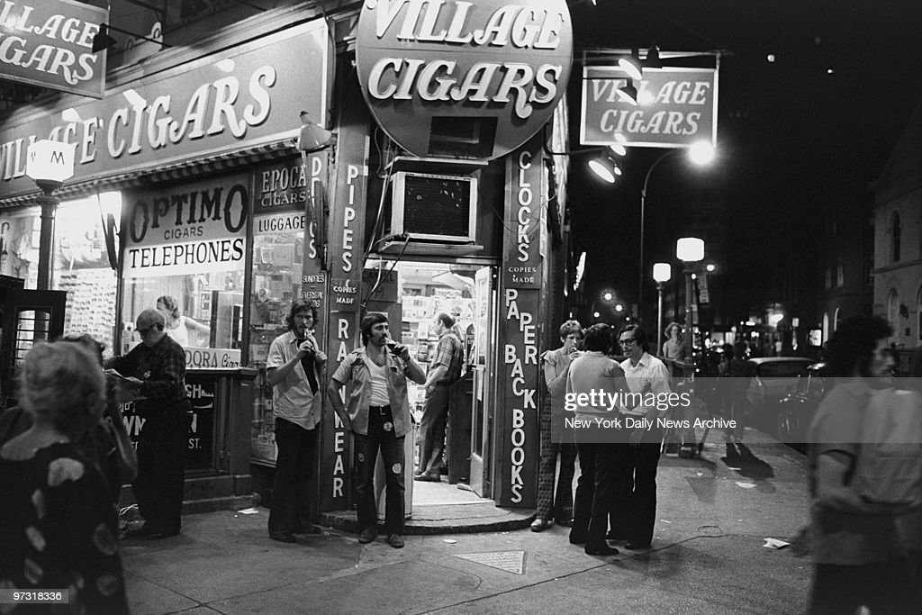 Two members of the New York Police department's anticrime divisionOfficers Tim Byrne and Carl Garritaniworking undercover outside a West Village...