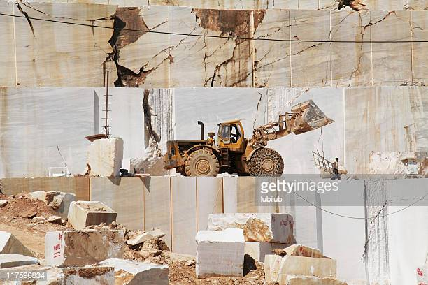 Two men and truck in Marble Quarry. Thassos, Greece (Series)