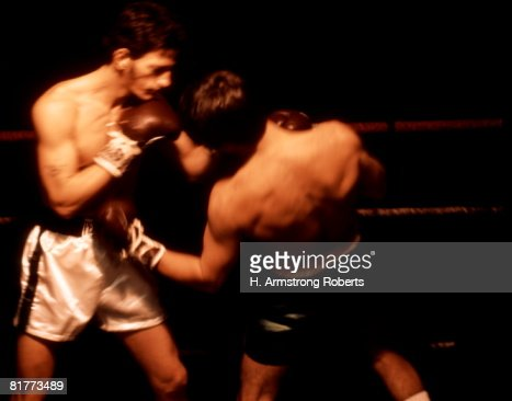 Two Men Are Boxing In The Ring. : Stock Photo