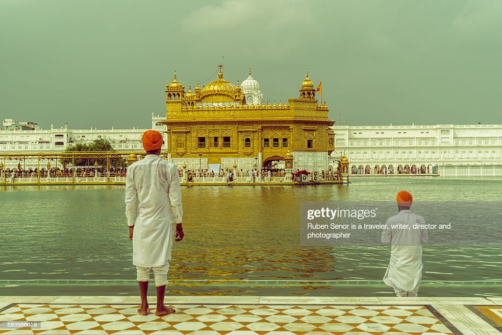 Two men in Golden Temple