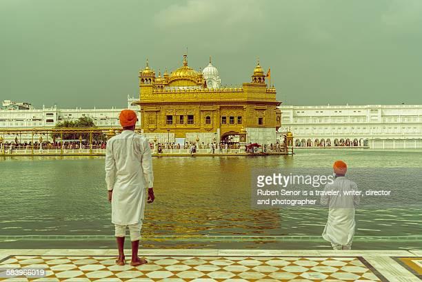 Two men in Golden Temple