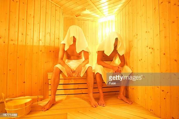 Two Men in Sauna