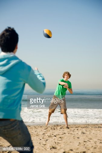 Two men playing football : Stock Photo