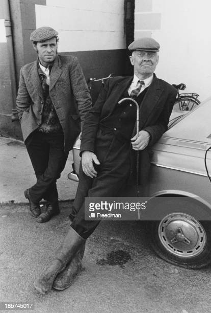 Two men pose for a photograph in Dowra County Cavan Ireland circa 1974