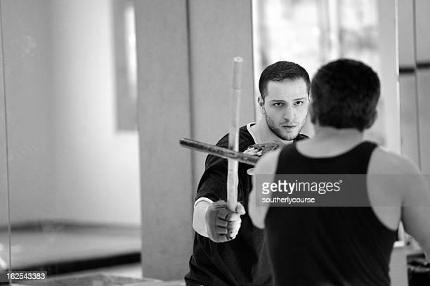 Dos hombres hombre de artes marciales