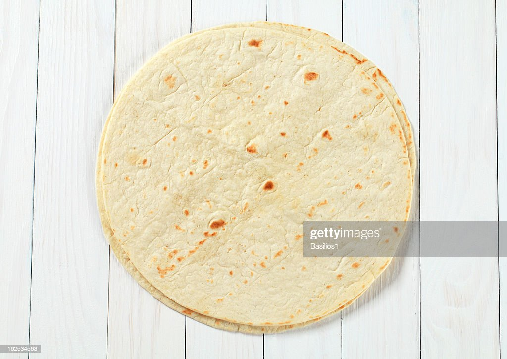 two mexican tortillas : Stock Photo