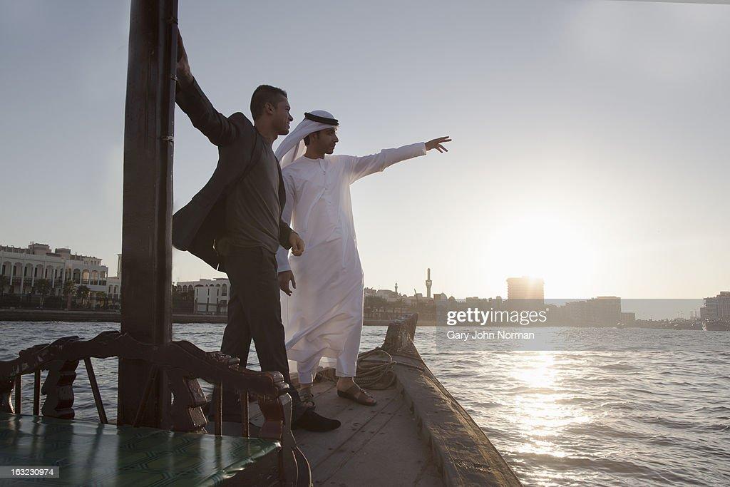 Two Middle Eastern Businessmen, Dubai Creek