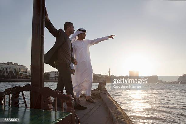 Two Middle Eastern Businessmen, Dubai Creek