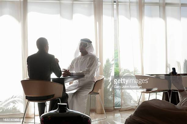 Two Middle Eastern Businessmen having meeting