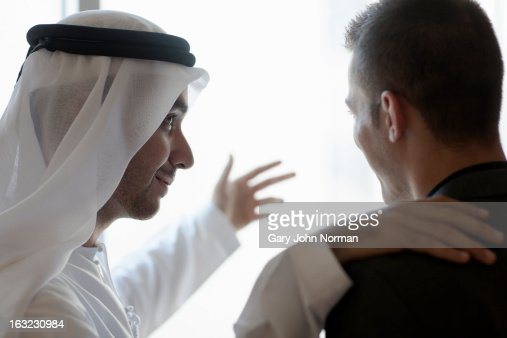Two Middle Eastern Businessmen meeting