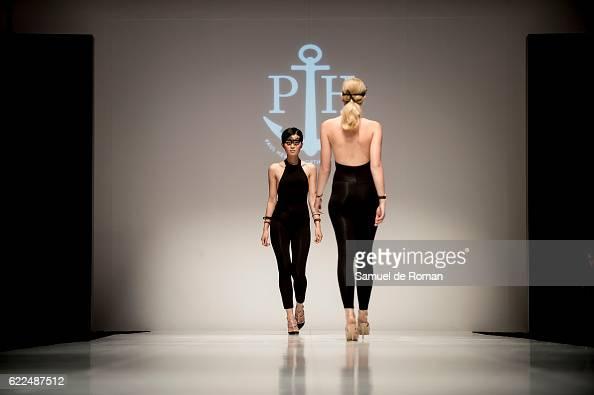 Two models walks the runway at the Paul Hewitt show during pasarela de la moda de castilla y leon 2016 at MEH november 8 2016 in Burgos Spain