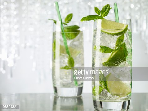 Two Mojito Cocktail Drinks