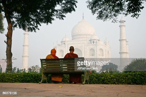 Two Monks at the Taj Mahal