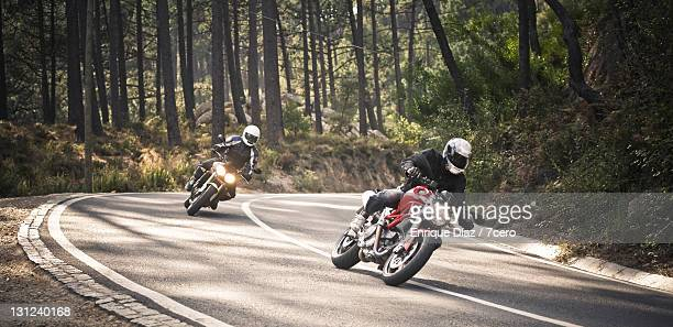 Two motorcycles ride