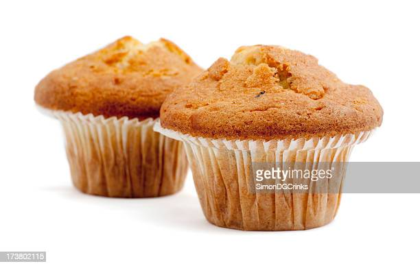 Two muffins isolated