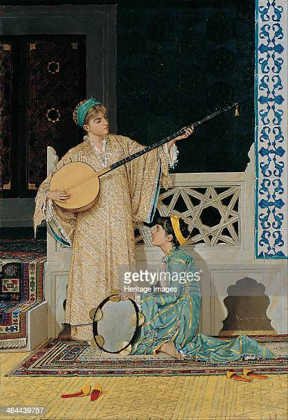 Two Musician Girls Second Half of the 19th cen Found in the collection of the Pera Museum Istanbul