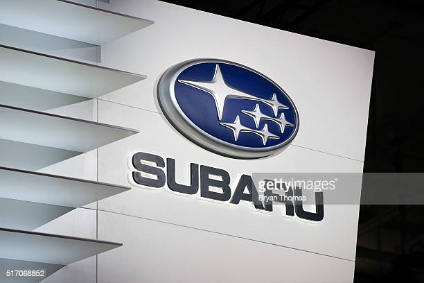 Two new models of the Subaru Impreza are introduced at the New York International Auto Show at the Javits Center on March 23 2016 in New York NY...