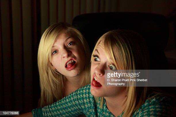 Two Obnoxious Teen Girls  in Darkness